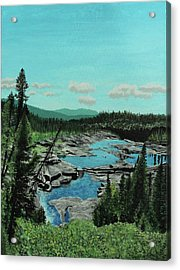 Churchill River Acrylic Print