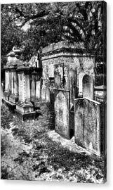 Churchyard Of Old Charleston Acrylic Print by Steven Ainsworth