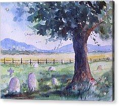 Churchyard Severn Stoke Acrylic Print by Susan Ryder
