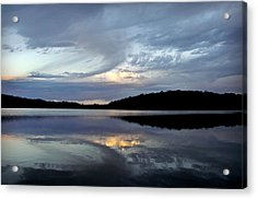 Acrylic Print featuring the photograph Churning Clouds At Sunrise by Chris Berry