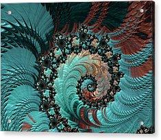 Churning Sea Fractal Acrylic Print by Bonnie Bruno