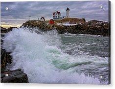 Churning Seas At Cape Neddick Acrylic Print by Rick Berk