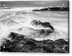 Churning Waves Acrylic Print