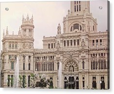 Cibeles Palace Acrylic Print by JAMART Photography