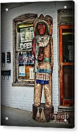 Acrylic Print featuring the photograph Cigar Store Indian by Paul Ward