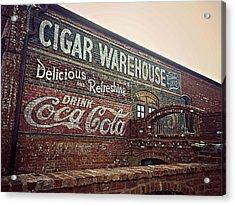 Cigar Warehouse Greenville Sc Acrylic Print by Kathy Barney