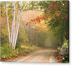 Cilley Hill Road In Underhill Vermont. Acrylic Print