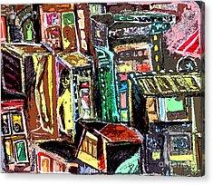 Cin City 2 Acrylic Print by Mindy Newman