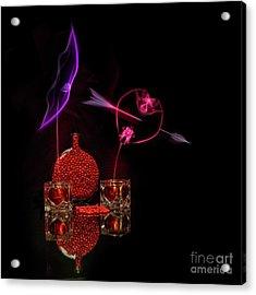 Cinnamon Hearts Acrylic Print