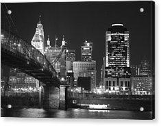 Cincinnati At Night Acrylic Print by Russell Todd
