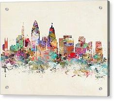 Cincinnati City Skyline Acrylic Print by Bri B