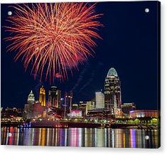 Cincinnati Fireworks Acrylic Print