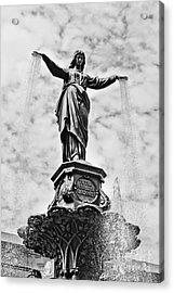 Cincinnati Fountain Tyler Davidson Genius Of Water Statue Acrylic Print by Paul Velgos
