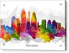 Cincinnati Ohio Cityscape 13 Acrylic Print