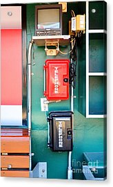 Cincinnati Reds Dugout Hotline Acrylic Print by Mel Steinhauer