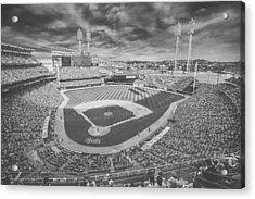 Cincinnati Reds Great American Ballpark Creative 6 Black White Acrylic Print