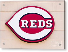 Cincinnati Reds Logo Sign Acrylic Print by Paul Velgos