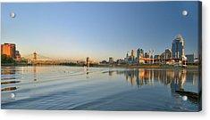 Cincinnati Riverfront Panorama Acrylic Print