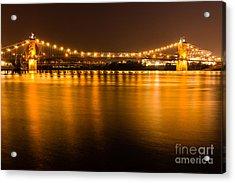 Cincinnati Roebling Bridge At Night Acrylic Print