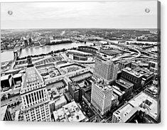 Cincinnati Skyline Aerial Acrylic Print by Paul Velgos
