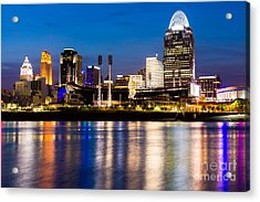 Cincinnati Skyline At Night  Acrylic Print