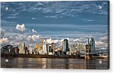 Cincinnati Skyline Hdr Acrylic Print