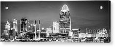 Cincinnati Skyline Panorama Picture Acrylic Print