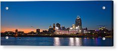 Cincinnati Skyline Sunset Acrylic Print
