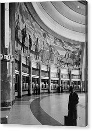 Cincinnati Union Terminal, Mural Acrylic Print by Everett