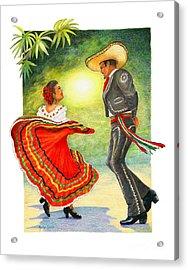 Cinco De Mayo Dancers Acrylic Print