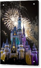 Cinderella Castle Spectacular Acrylic Print by Charles  Ridgway