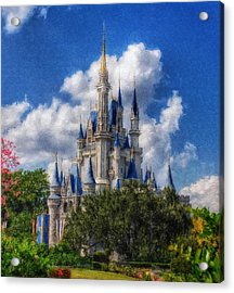 Cinderella Castle Summer Day Acrylic Print