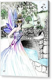 Fairytales Of Dragon Pass Castle, Costume Balls And Cinderella Acrylic Print by Janice Moore