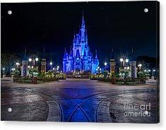 Cinderellas Castle Glow Acrylic Print