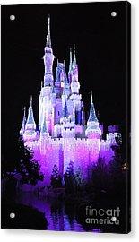 Cinderella's Holiday Castle Acrylic Print