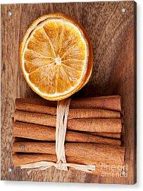 Cinnamon And Orange Acrylic Print by Nailia Schwarz