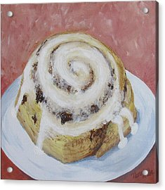 Acrylic Print featuring the painting Cinnamon Roll by Nancy Nale