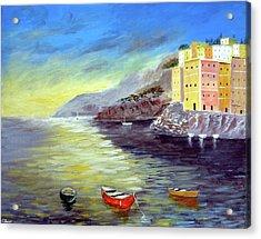 Cinque Terre Dreams Acrylic Print by Larry Cirigliano