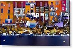 Cinque Terre  I Acrylic Print by Gareth Davies