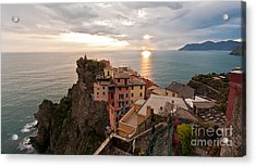 Cinque Terre Tranquility Acrylic Print by Mike Reid