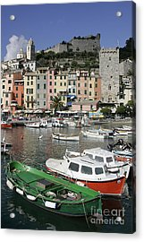 Cinqueterre Boats Acrylic Print by Stan and Anne Foster