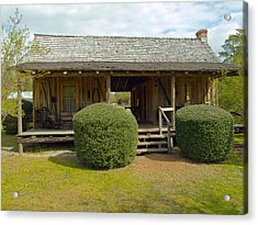 Circa 1900 Dogtrot Cabin Of Ephriam Brown From Lake Mills Florida Acrylic Print by Allan  Hughes