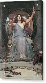 Circe Offering The Cup To Odysseus Acrylic Print by John William Waterhouse