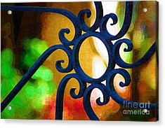 Circle Design On Iron Gate Acrylic Print
