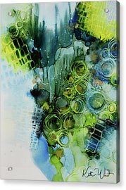 Acrylic Print featuring the painting Circle Magic 1 by Kate Word