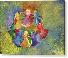 Circle Of Friends Acrylic Print by Susan Vannelli