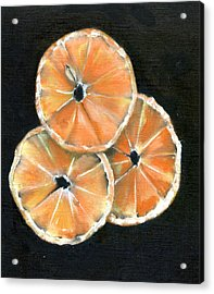 Circle Of Orange Acrylic Print by Penny Everhart