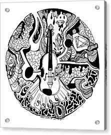 Circle Of Strings Acrylic Print by Kenal Louis