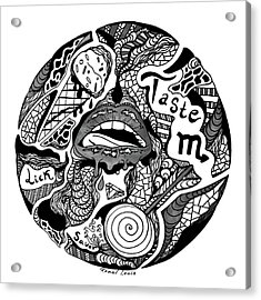 Circle Of Taste Acrylic Print by Kenal Louis