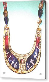 Acrylic Print featuring the jewelry Circle Of Women by Gertrude Palmer